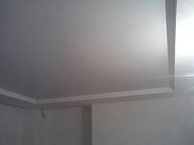 Матовый бесщелевой натяжной потолок 2