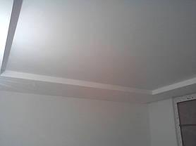 Матовый бесщелевой натяжной потолок 3