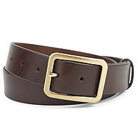 Ремень кожаный женский под джинсы PS-3553 коричневый (135 см)