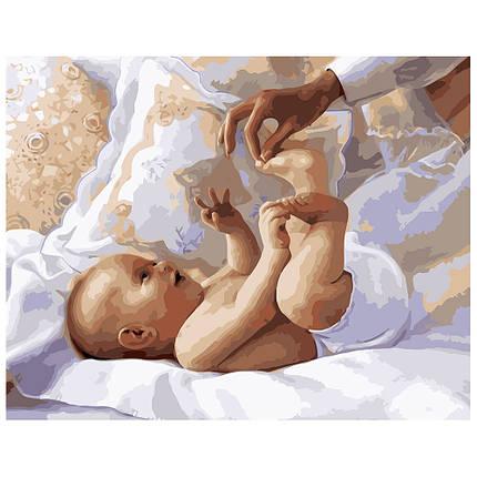 Картина по Номерам Младенец 40х50см Strateg, фото 2