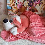 Плед игрушка подушка 3 в1 Собачка   Игрушка детский плед   Игрушки-Подушки   Мягкая игрушка Оранжевого цвета, фото 3