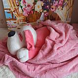 Плед игрушка подушка 3 в1 Собачка   Игрушка детский плед   Игрушки-Подушки   Мягкая игрушка Оранжевого цвета, фото 4
