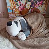 Плед игрушка подушка 3 в1 Собачка   Игрушка детский плед   Игрушки-Подушки   Мягкая игрушка Оранжевого цвета, фото 6