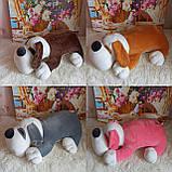 Плед игрушка подушка 3 в1 Собачка   Игрушка детский плед   Игрушки-Подушки   Мягкая игрушка Оранжевого цвета, фото 7