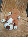 Плед игрушка подушка 3 в1 Собачка   Игрушка детский плед   Игрушки-Подушки   Мягкая игрушка Оранжевого цвета, фото 2