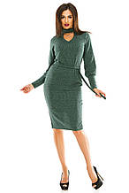 Платье 443 зеленое размер 46