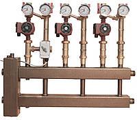 Распределительный коллектор с 10 верхними/нижними отводами и гидравлической стрелкой