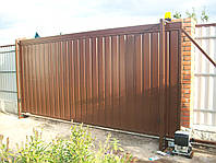 Ворота автоматические откатные установка
