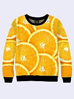 Світшот жіночий 3D Апельсин, фото 1