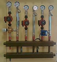 Распределительный коллектор с 6 верхними/нижними отводами