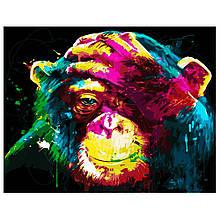 Картина по Номерам Яркая обезьянка 40х50см Strateg