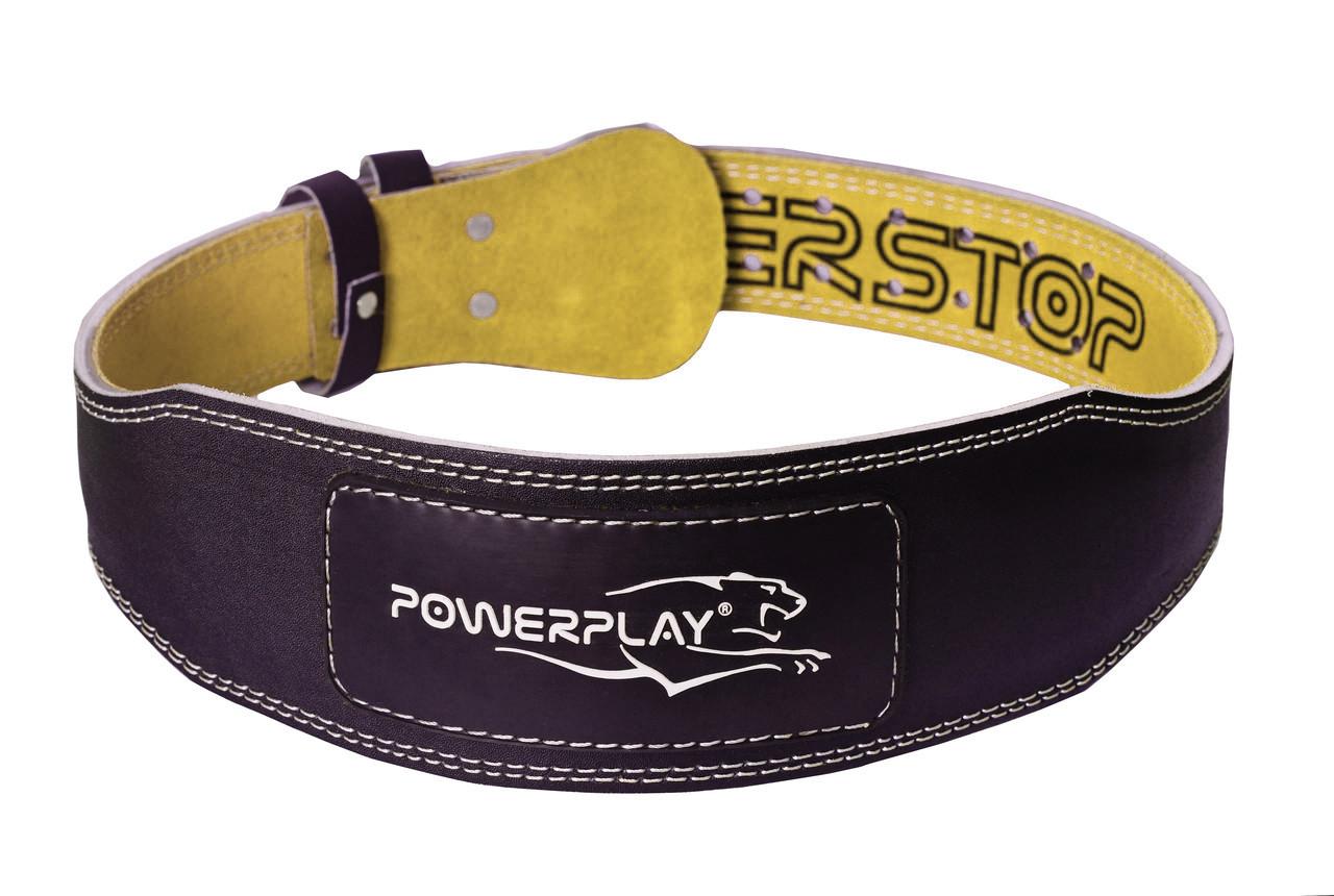 Пояс для важкої атлетики PowerPlay 5085 Чорно-Жовтий S
