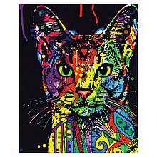 Картина по Номерам Яркая кошка 40х50см Strateg
