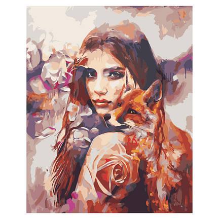 Картина по Номерам Коллаж девушка и природа 40х50см Strateg, фото 2