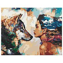 Картина по Номерам Девушка и волк 40х50см Strateg