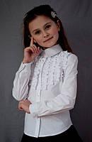"""Блузка """"Світ блуз"""" мод. 2083 біла р. 152"""