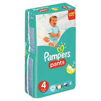 Трусики Pampers Pants Unisex 4 ( 9-14 ) 52 шт!