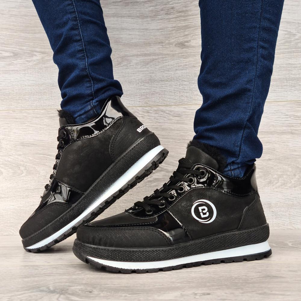 Женские зимние ботинки - кроссовки черные (БТ-15ч)