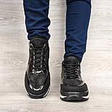 Женские зимние ботинки - кроссовки черные (БТ-15ч), фото 5