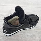 Женские зимние ботинки - кроссовки черные (БТ-15ч), фото 8