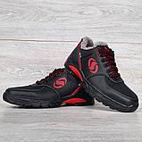 Мужские кроссовки зимние утепленные на меху (Сгз-3-2чр), фото 4