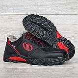 Чоловічі кросівки зимові утеплені на хутрі (Сгз-3-2чр), фото 6
