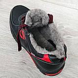 Чоловічі кросівки зимові утеплені на хутрі (Сгз-3-2чр), фото 8
