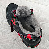 Мужские кроссовки зимние утепленные на меху (Сгз-3-2чр), фото 8