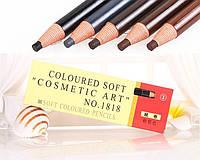 Олівець для татуажу брів Cosmetic art 1818 темно-коричневий