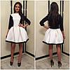 Нарядное комбинированное  платье