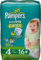 Трусики Pampers Active Boy Pants 4 ( 9-14 ) 16 шт!