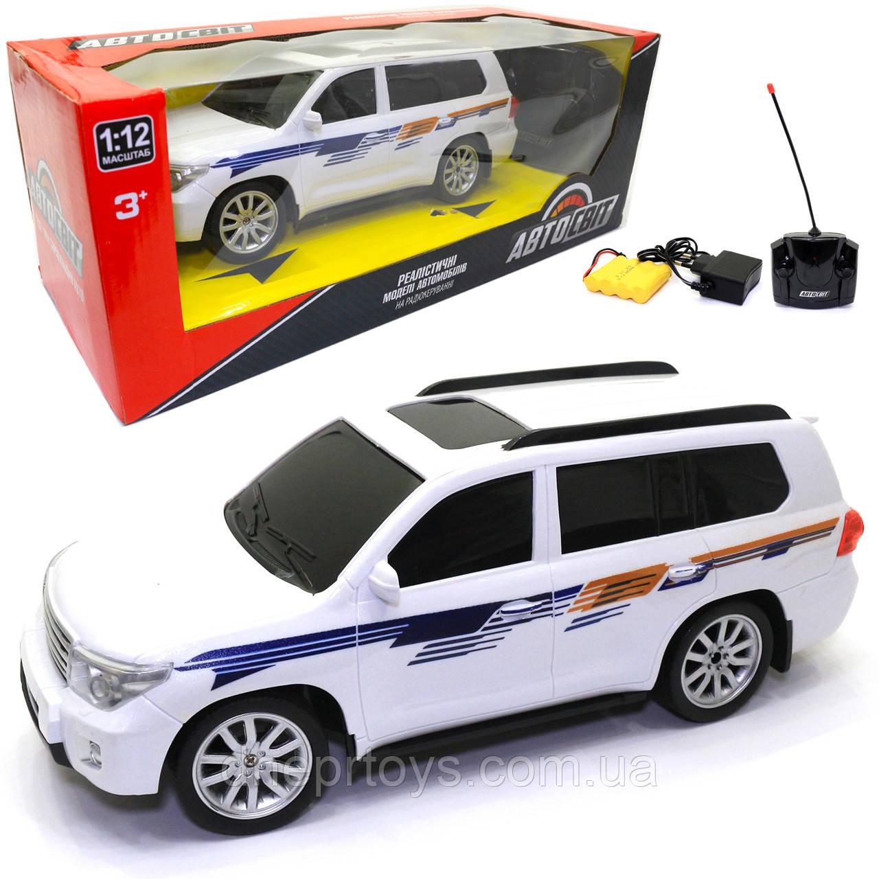 Іграшкова машинка на радіоуправлінні АвтоСвіт «Lexus» джип білий, світло, звук 30*11*13 см (AS-2364)