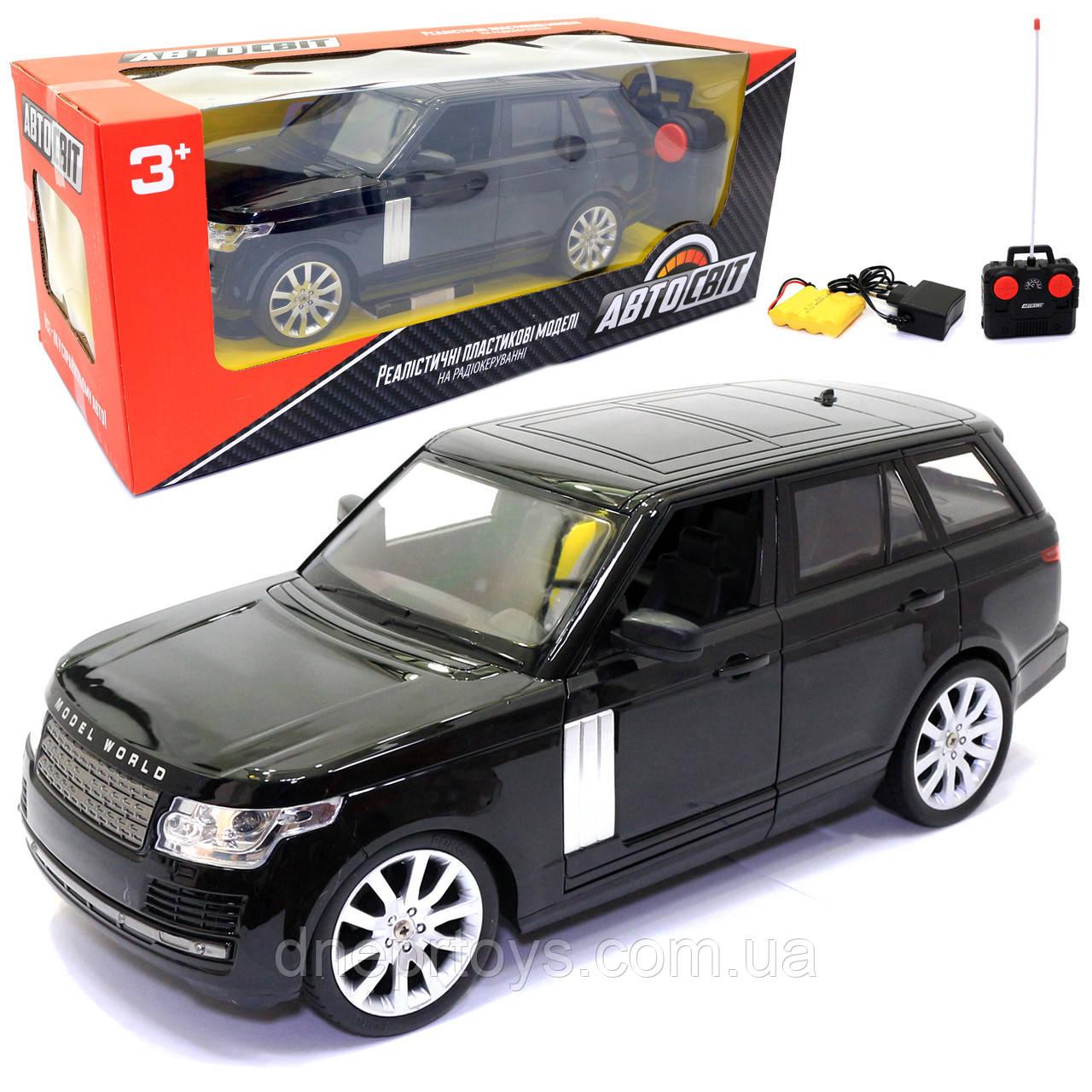 Іграшкова машинка на радіоуправлінні АвтоСвіт «Range Rover» чорний, світло, звук 31*12*13 см (AS-1837)