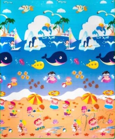Развивающий коврик Babypol 1800x1500 Веселая ферма / Подводный мир