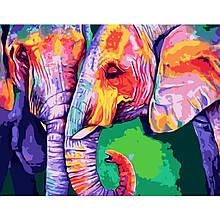 Картина по Номерам Разноцветные слоны 40х50см Strateg