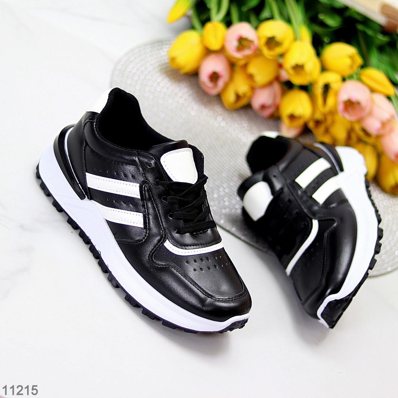 Комфортные стильные черные женские кроссовки на каждый день