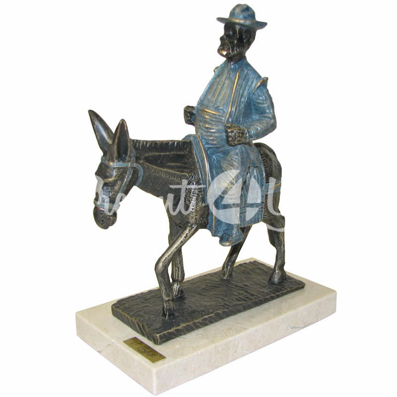 Скульптура Anglada «Санчо Панса на осле», 19x10x24 см.