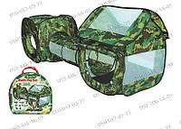 Игровые палатки, Детская камуфляжная палатка с туннелем A999-144 (919030), активные игры с детьми, палатки