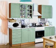 Кухня Оля 2,0 м - 2,6м БМФ бирюза