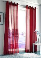 Декоративные шторки из шифона, на люверсах (Бордовые)