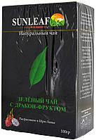 Чай зеленый SunLeaf з Дракон Фруктом 100г