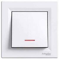 Выключатель 1- с подсветкой белый  Schneider Electric Asfora EPH1400121