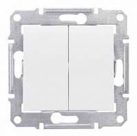 Выключатель 2- белый   Schneider Electric Sedna SDN0300121