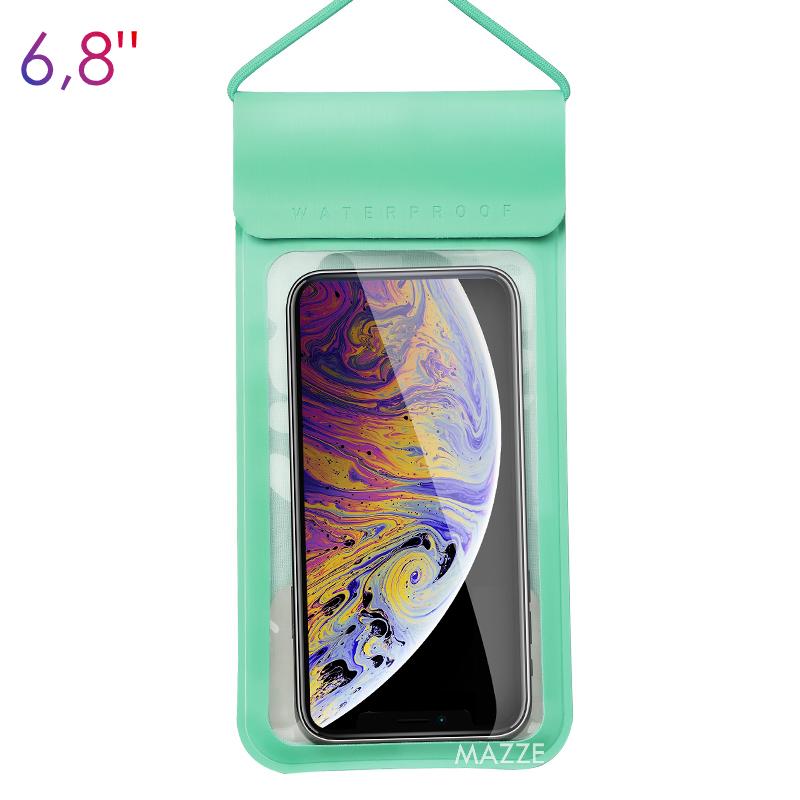 Водонепроникний чохол IPX8 для мобільного телефону, смартфона для підводної зйомки KUULAA Waterproof PU Bag (KL-FSD-01) Green