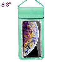 Водонепроникний чохол IPX8 для мобільного телефону, смартфона для підводної зйомки KUULAA Waterproof PU Bag (KL-FSD-01) Green, фото 1