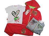 Трикотажный костюм-тройка для девочек,Crossfire, размеры 116, арт. CS-1802