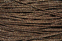 Шнур 2.5мм (100м) коричневый + золото