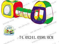 Детская палатка с туннелем 889-7B, активные игры с детьми, место для игрушек, Палатка-Домик