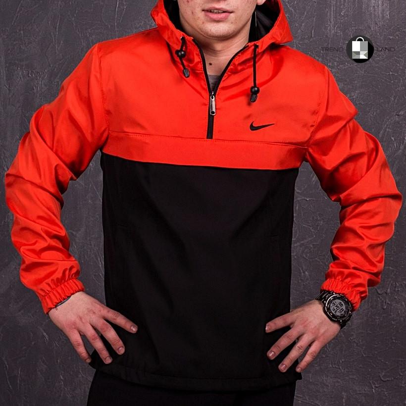 Размеры S-3XL   Мужская куртка анорак Nike Orange Оранжевый
