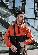 Размеры S-3XL   Мужская куртка анорак Nike Orange Оранжевый, фото 3